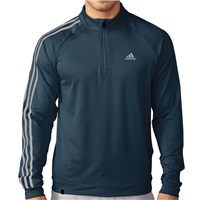 Adidas 3 Stripe Quarter Zip LC Top Mineral Blue 2016