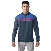 Adidas Climacool Colourblocked Quarter Zip Top Mineral Blue/Ray Blue 2016