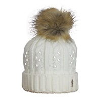 Golf 2 Golf Womens Embellished Bobble Hat White Crystal 2016