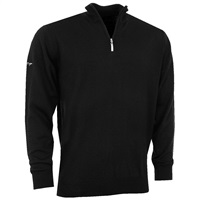 Greg Norman Merino Lined 1/4 Zip-Neck Pullover Black 2016