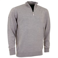 Greg Norman Merino Lined 1/4 Zip-Neck Pullover Grey 2016