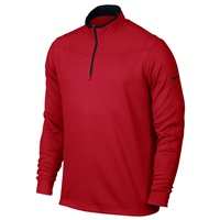 Nike Golf Dri-FIT Half Zip Long Sleeve Top Sweater Pullover University Red/Black 2016
