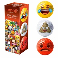 Emoji Novelty Golf Balls 3Pk 2016