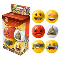 Emoji Novelty Golf Balls 6Pk 2016