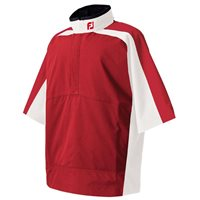 FootJoy Hydrolite Short Sleeve Rain Shirt Red White