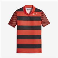 Nike Golf Boys Bold Stripe Polo Orange/White 2017