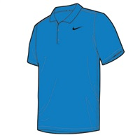 Nike Golf Boys Victory Polo Photo Blue/Black 2017