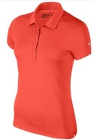 Nike Golf Ladies Victory Solid Polo Shirt Max Orange/White 2017