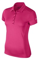 Nike Golf Ladies Victory Solid Polo Shirt Vivid Pink/White 2017