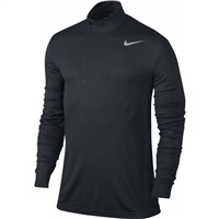 Nike Golf Dri-Fit Knit 1/2 Zip Top Black/Dark Grey/Flat Silver 2017