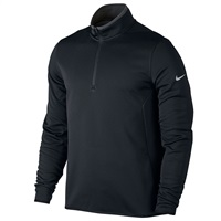 Nike Golf Hypervis 1/2 Zip Golf Pullover Top Black/Dark Grey/Flat Silver 2017
