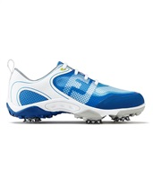 FootJoy Boys HyperFlex Golf Shoes Medium Fit White/Blue 2017