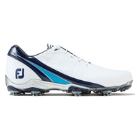 FootJoy DNA Golf Shoes Medium Fit White/Navy/Light Blue 2017