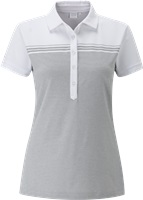 Ping Ladies Hannah Polo White/Light Silver Marl 2017