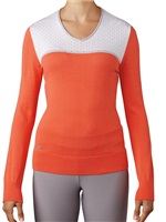 Adidas Ladies Essentials V-Neck Sweater Easy Coral 2017