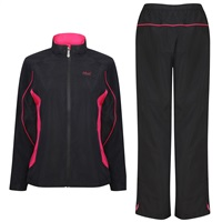 Island Green Ladies Winter Waterproof Golf Suit Black/Hot Pink 2017