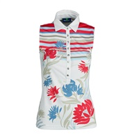 Daily Sports Ladies Vanessa Sleeveless Polo White 2017