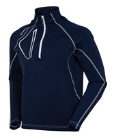 Sunice Allendale Superlitefx Stretch Thermal Half-Zip Pullover Midnight Navy/Pure White 2017