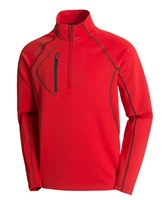 Sunice Allendale Superlitefx Stretch Thermal Half-Zip Pullover Real Red/Charcoal 2017