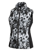 Sunice Ladies Finley Thermal 3M Featherless Insulated Stretch Vest Black Serenity Print/Black 2017