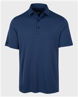 Greg Norman Micro Jacquard Polo Navy 2017