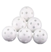Legend Plastic Hollow Balls White 6 Pack 2017