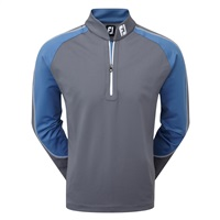 FootJoy Jersey Chill Out Xtreme Pullover Charcoal/Cadet Blue 2017