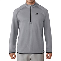 Adidas Climaheat Gridded Quarter Zip Pullover Mid Grey 2017
