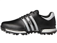 Adidas Tour360 Boost 2.0 Wide Width Shoes Core Black/Running White