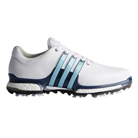 Adidas Tour360 Boost 2.0 Wide Width Shoes Running White/Icey Blue/Mystery Ink 2017