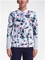 Rohnisch Ladies Lagoon Long Sleeve Polo Light Midnight Garden 2017