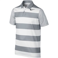 Nike Golf Boys Bold Stripe Golf Polo Grey/Black 2017