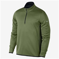 Nike Golf Hypervis Half-Zip Golf Top Palm Green/Black/Flat Silver 2017
