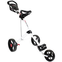 Masters 5 Series 3 Wheel Push Trolley White