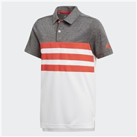 Adidas Junior 3-Stripes Polo White/Hi Res Red 2018
