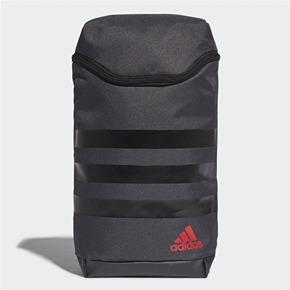 Adidas 3-Stripes Shoe Bag Dark Grey Black Scarlet 2018 827563ece75