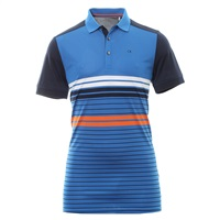 Calvin Klein Golf Axle Tech Polo Shirt White/Chaotic Blue 2018