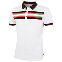 Calvin Klein Golf Swerve Polo Shirt White/Black 2018