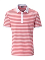 Ping Healey Tailored Fit Polo White/Scarlett Multi 2018