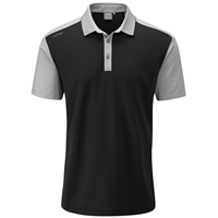 Ping Quinn Golf Polo Shirt Black/Silver Marl 2018