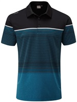 Ping Ronan Polo Shirt Black/Teal Marl 2018