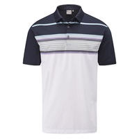 Ping Harper Golf Polo Shirt White/Navy Multi 2018