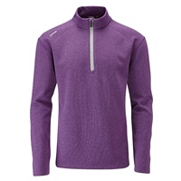 Ping Kelvin Half Zip Golf Top Plum Marl 2018