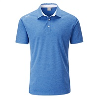Ping Harrison Heather Polo Shirt Imperial Blue Marl/White 2018