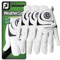 FootJoy WeatherSof Glove Left Hand 3-Pack White 2018