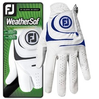 FootJoy WeatherSof Glove Left Hand White/Blue 2018