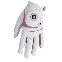 FootJoy Ladies WeatherSof Glove Left Hand White/Pink 2018