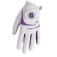 FootJoy Ladies WeatherSof Glove Left Hand White/Purple 2018