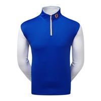 FootJoy Double Layer Contrast ChillOut Pullover Midnight Blue/White/Melon