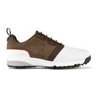 FootJoy ContourFit Shoes Wide Width White/Brown